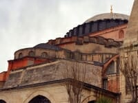 Hagia Sophia: Cupola dome, semi-dome, and apse