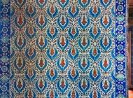 Iznic tiles decorating Rustem Pasa Mosque
