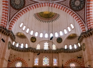 Interior of the Suleimaniye Mosque
