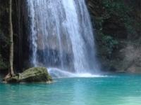 Erawan waterfall in Erawan National Park, Kanchanaburi