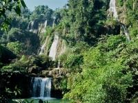 Tilosu waterfall in Umphang National Park, Tak