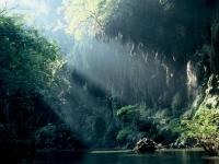 Maeklong river in Umphang National Park, Tak