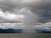 Rain over Sri Nakarin lake, Kanchanaburi