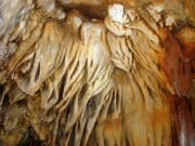 Stalactite cluster on the cave wall