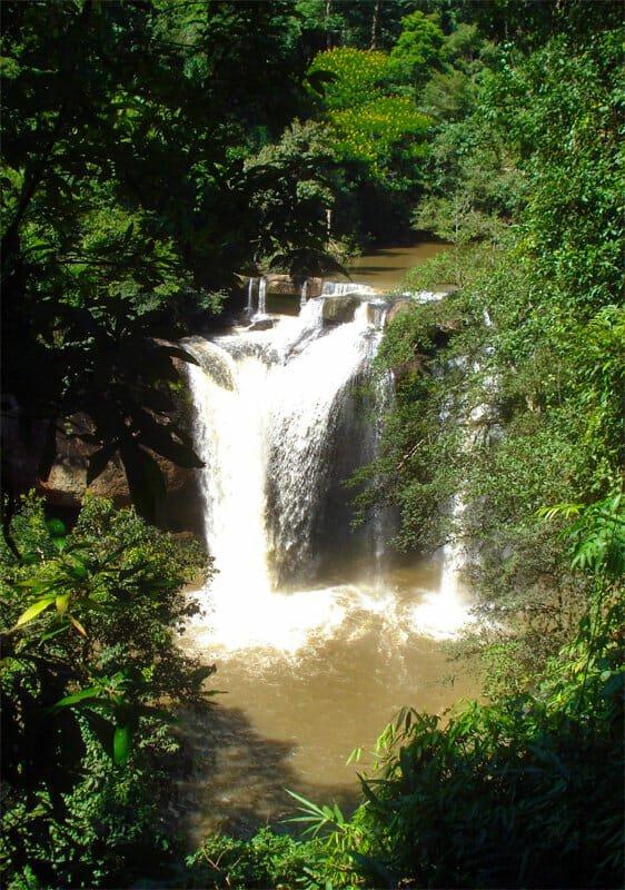 Haew Suwat waterfall in full flow