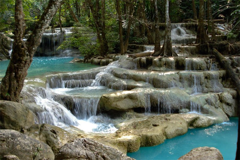 Erawan Waterfall - bottom tier