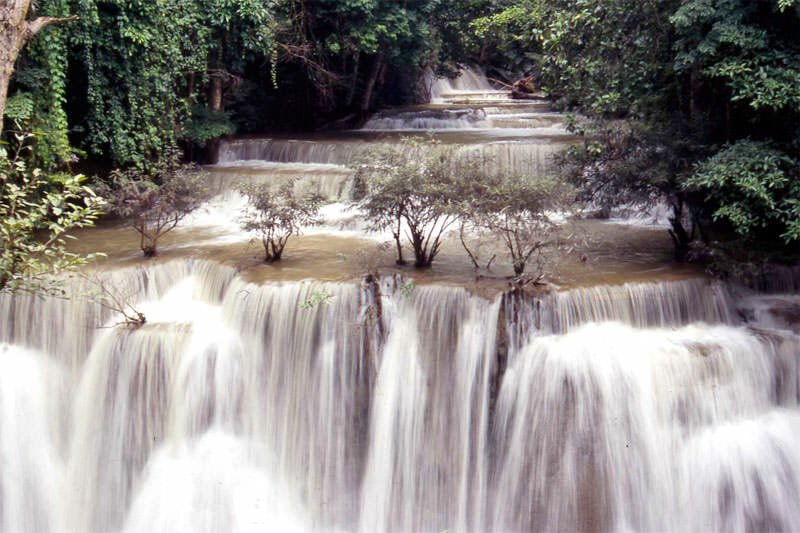 Huai Mae Khamin waterfall in Sri Nakarin National Park