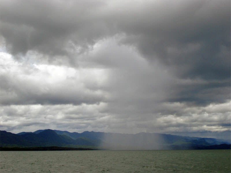 Rain over Sri Nakarin Dam