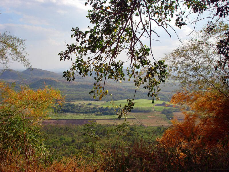 view over Kanchanaburi countryside