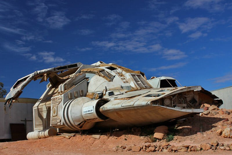 Riddick's space ship currently 'parked' in Coober Pedy