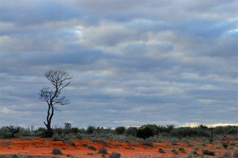 Old Andado - Gloomy desert sky