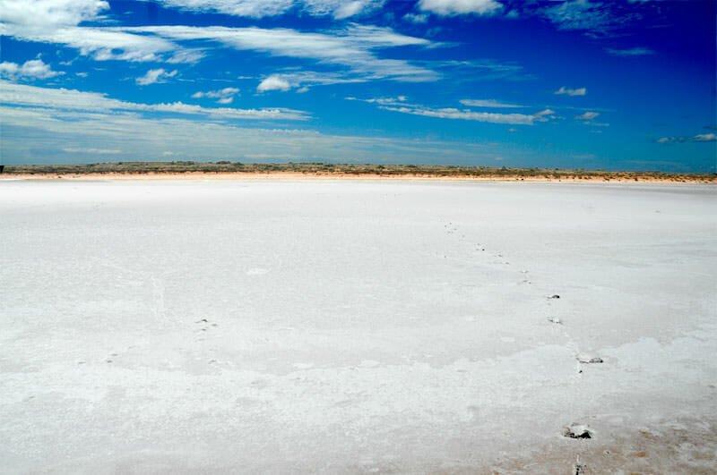 salk lake in the Australian Outback