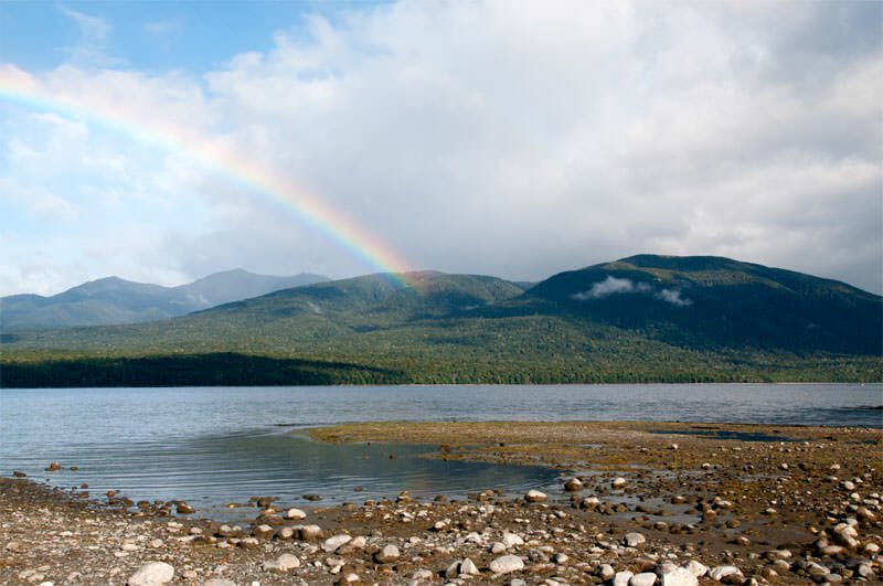 Rainbow over Te Anau