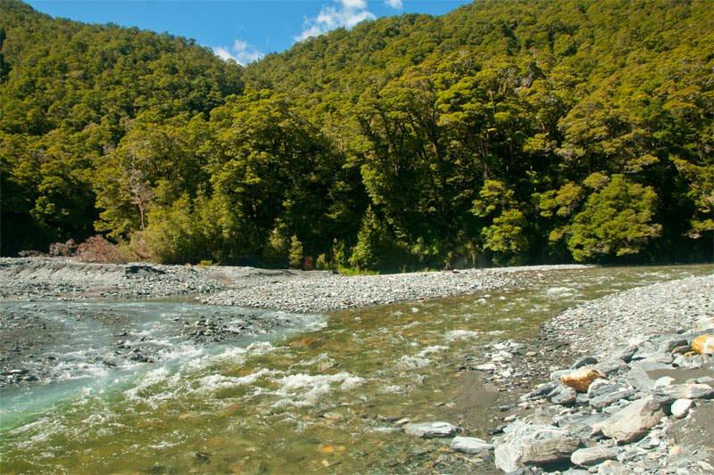 Alpine river in Mt. Aspiring National Park