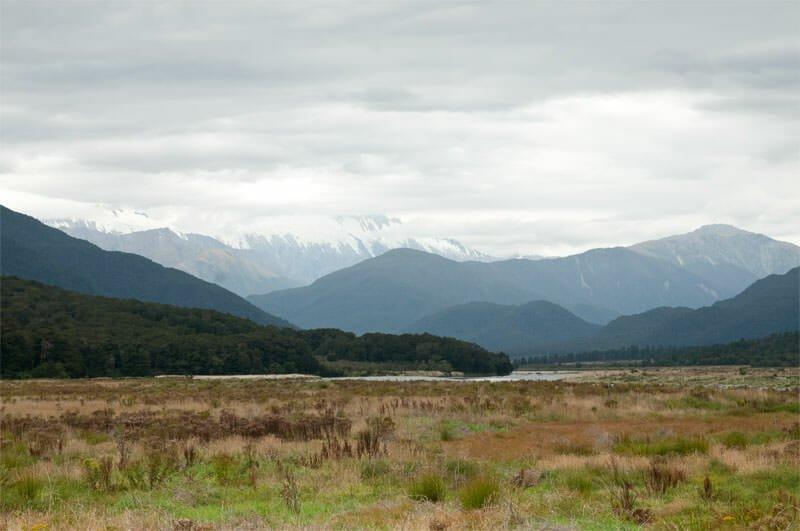 Fox Glacier to Lake Pukaki - Pleasant Flat, Mt. Aspiring National Park, New Zealand