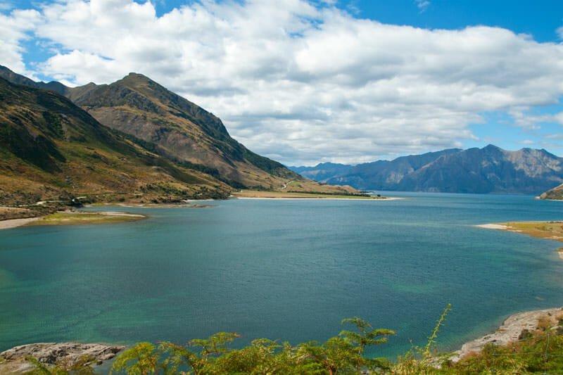 Northern end of Lake Hawea, New Zealand