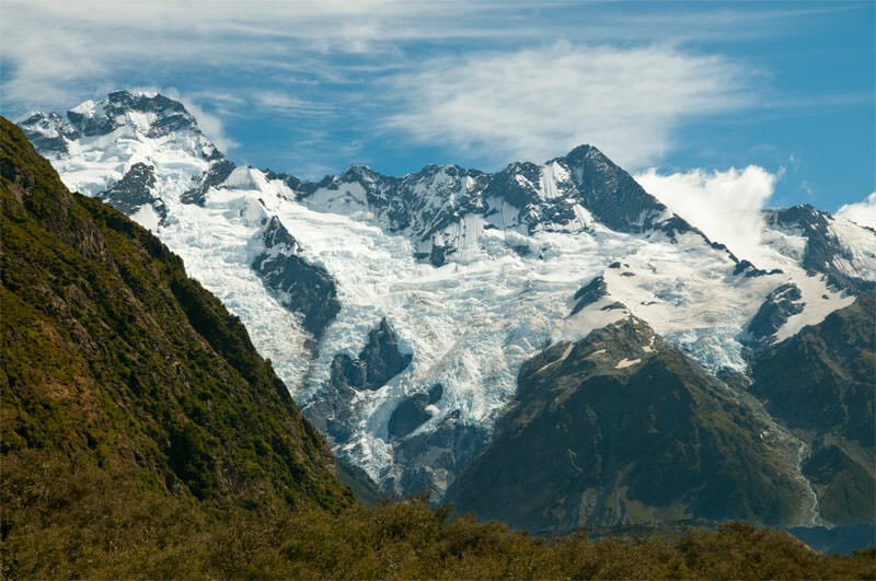 Snowy peaks of Mt. Cook National Park
