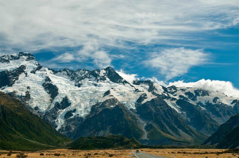 Sefton glacier on Mt Cook, New Zealand