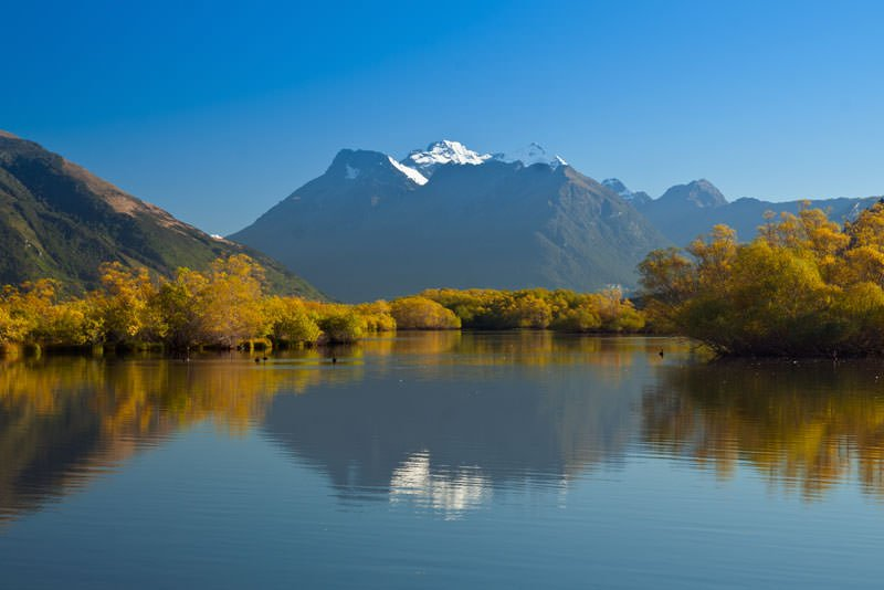 Reflection of Mt Earnslaw, Glenorchy, New Zealand