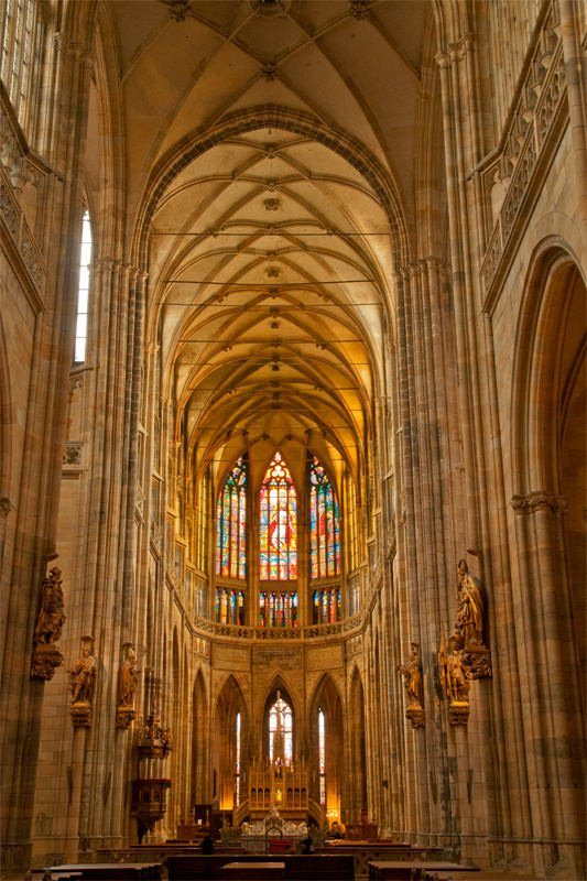 A weekend in Prague - Interior of St. Vitus Cathedral