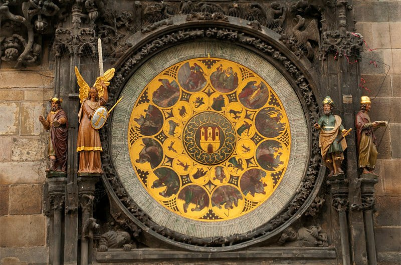 A weekend in Prague - The calendar dial of the clock