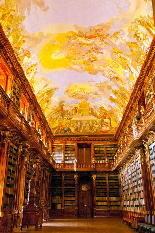 A weekend in Prague - Philosophical Hall at Strahov Monastery Library
