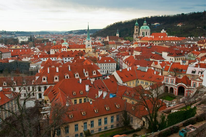 A weekend in Prague - View of the city from Prague Castle