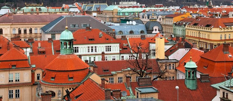 Prague's roof tops