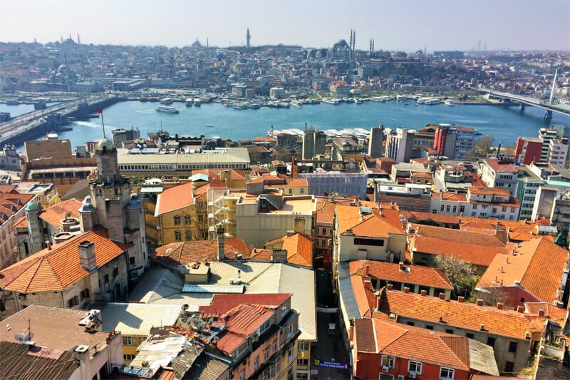 View from Galata Tower across the Golden Horn