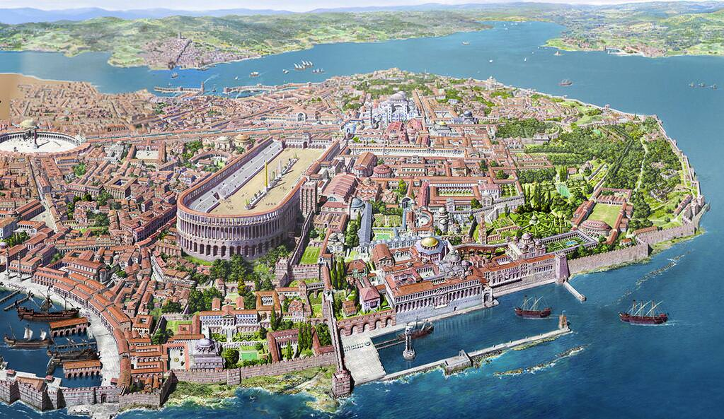 Reconstruction of Constantinople Image Sourced from A puleius Books