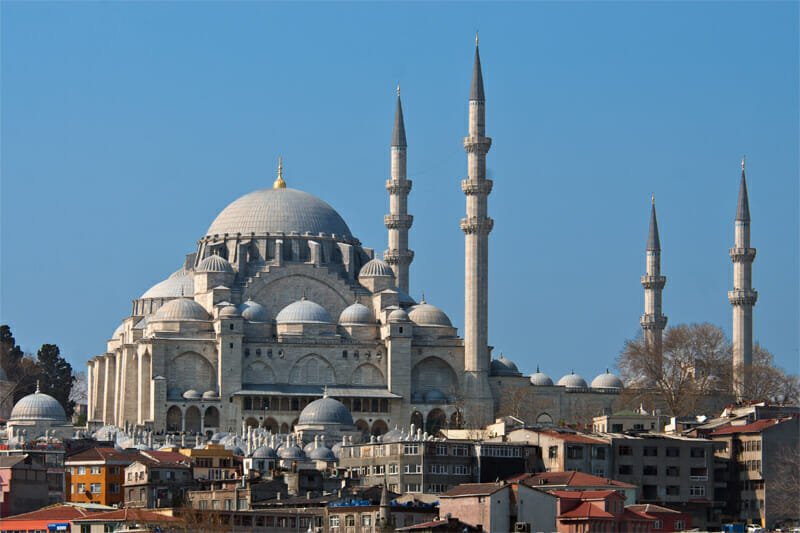 Suleimaniye Mosque - view from Galata Bridge