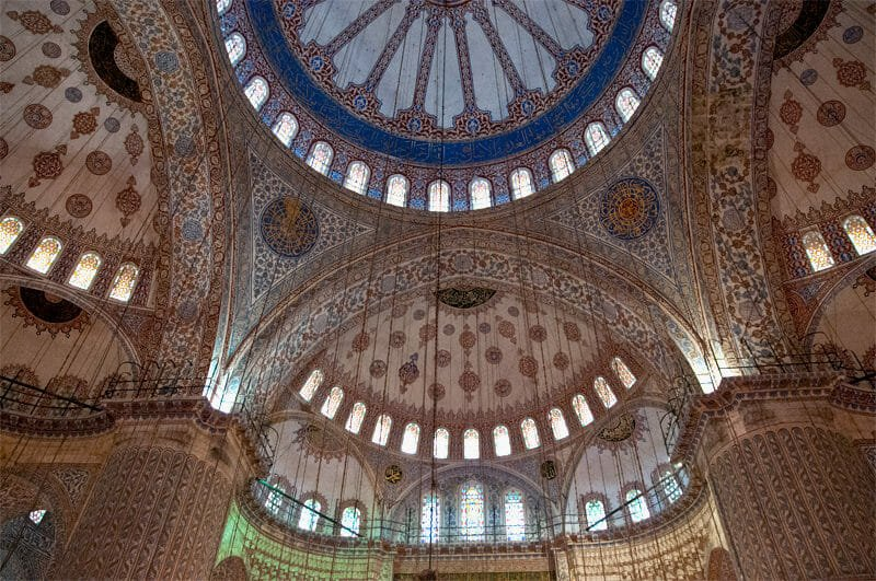 The Greatest Mosques of Istanbul - Interior of the Blue Mosque