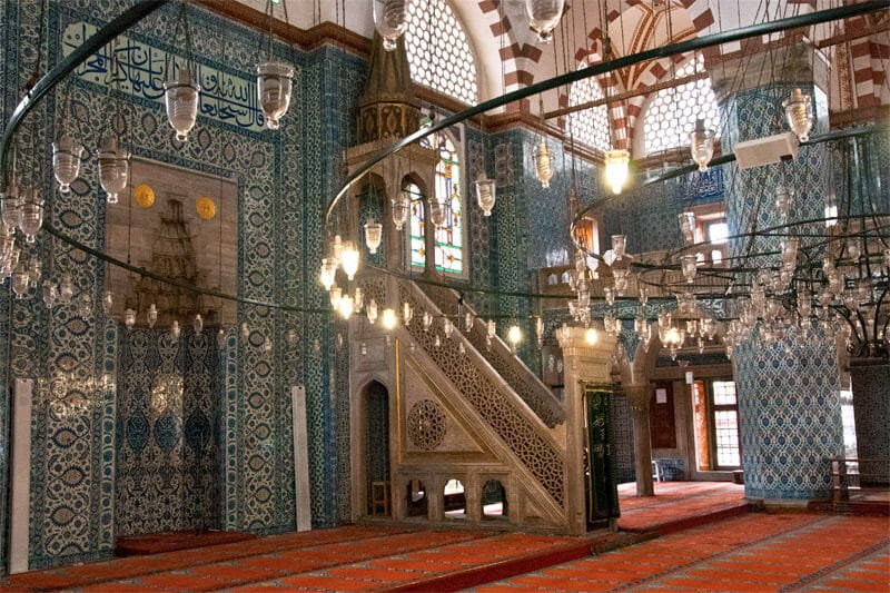 Buildings designed by Sinan in Istanbul - Interior of Rustem Pasa Mosque