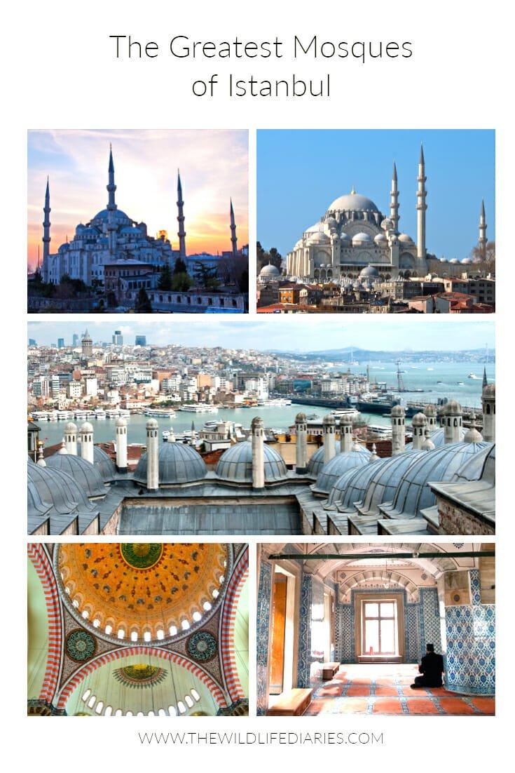 The Greatest Mosques of Istanbul #Suleimaniyemosque #Shehzademosque #RustemPashaMosque #Blu
