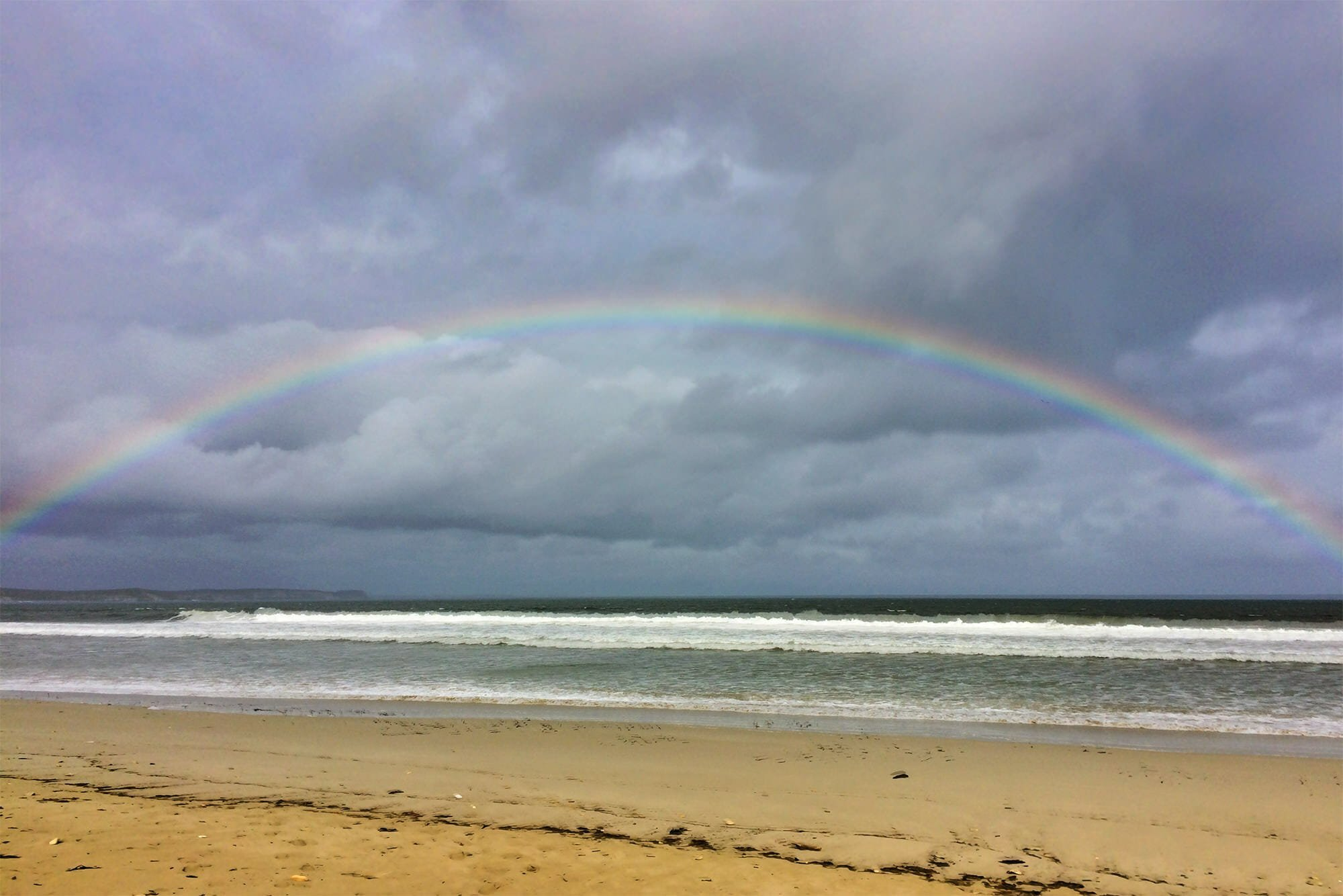 Rainbow over Vivonne Bay