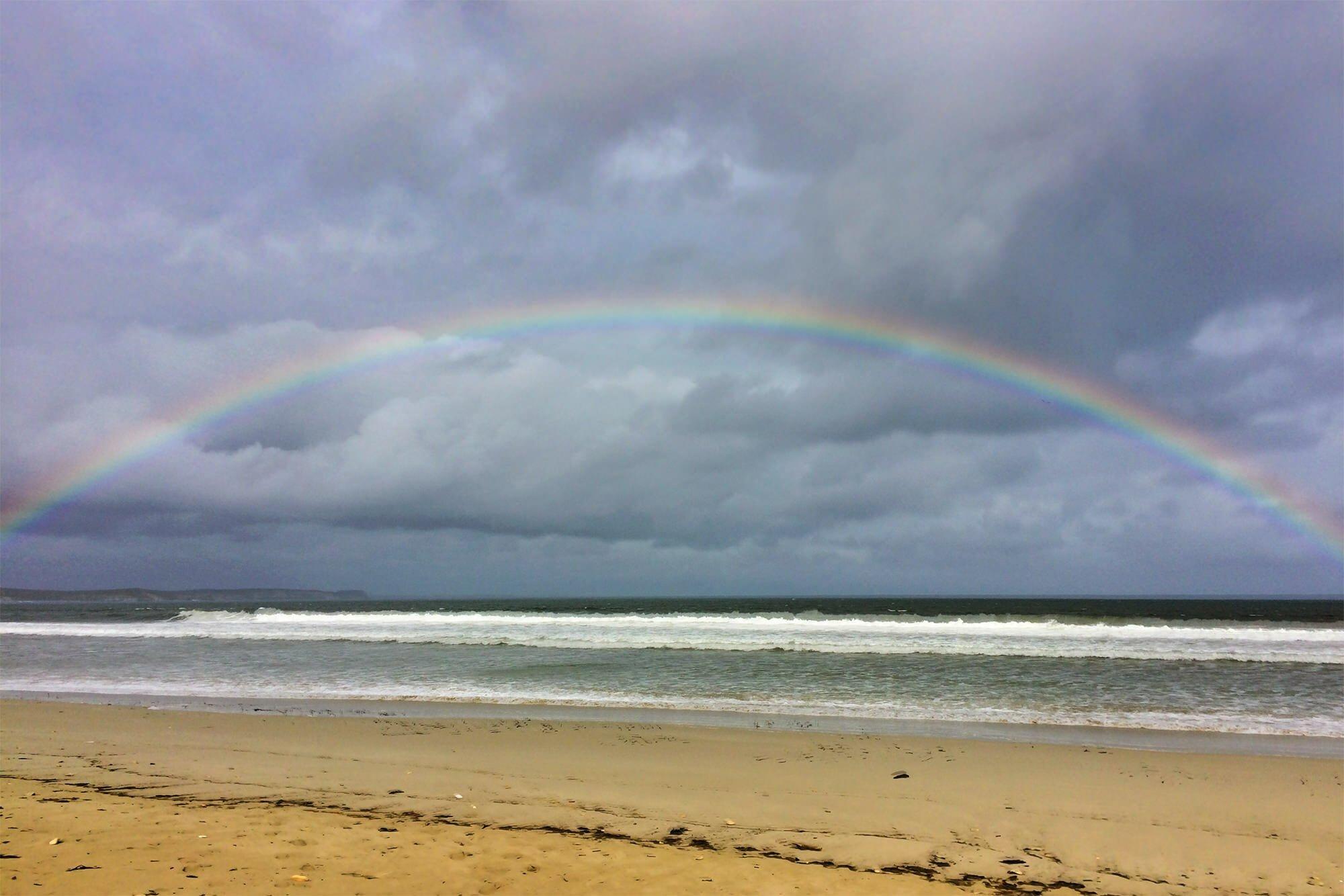 Rainbow over Vivonne Bay