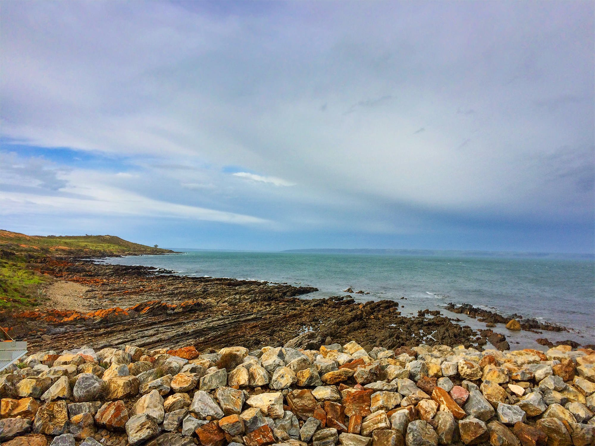 Stormy sky at Cape Jervis