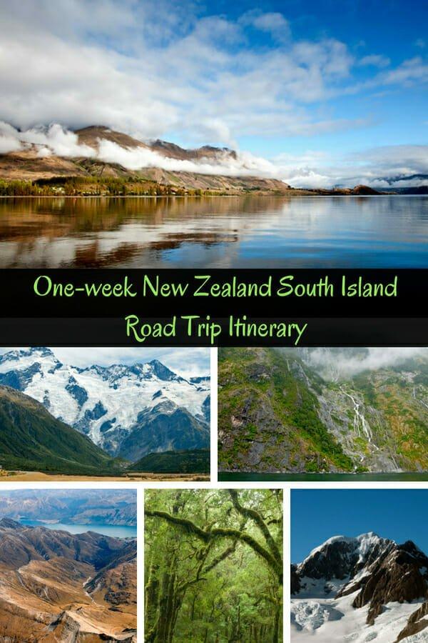 One-week-New-Zealand-South-Island-Road-Trip-Itinerary-MilfordSound-FoxGlacier-Queenstown-LakePukaki-Lake-Wanaka-LakeTeAnau
