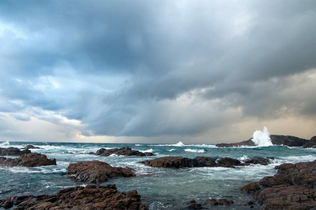 Storm over the ocean in Anna Bay