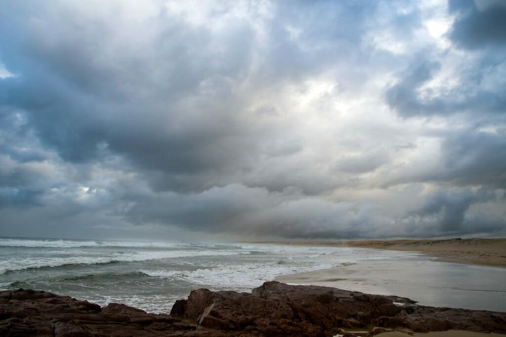 Stormy sky in Anna Bay, Australia