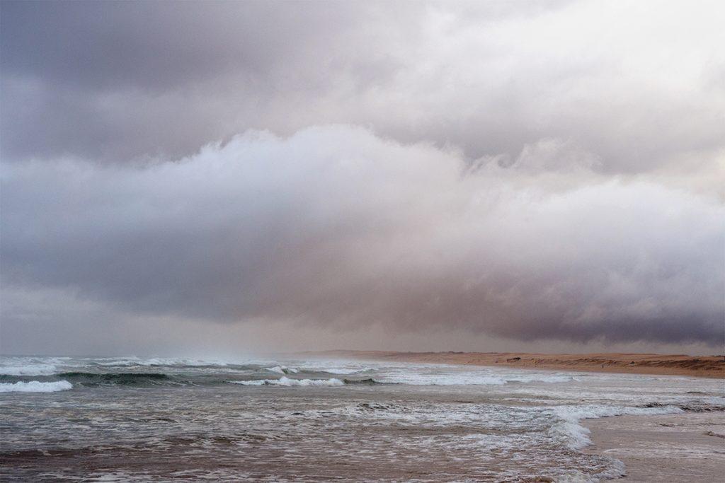 Rain and sand storm