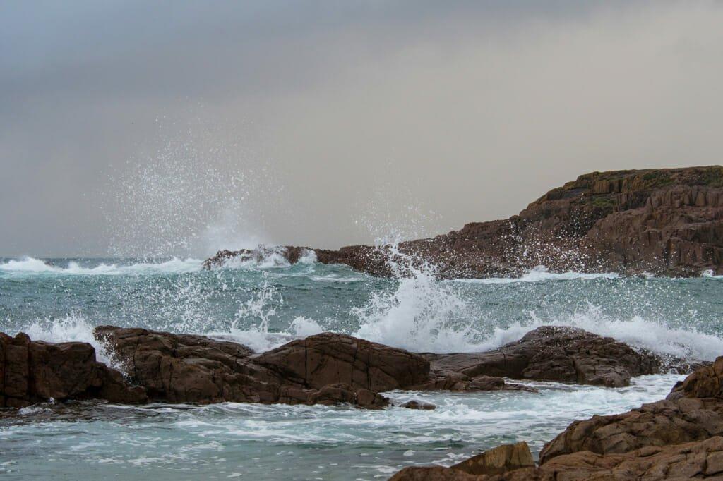 Thundering surf in Anna Bay