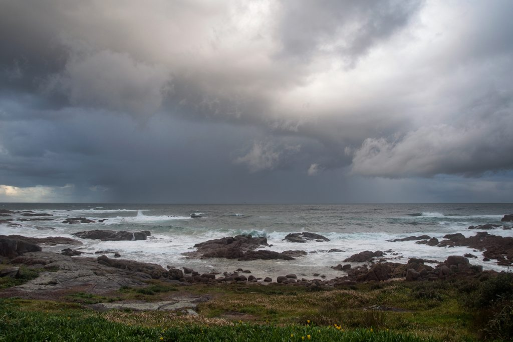 Coastal storm in Australia