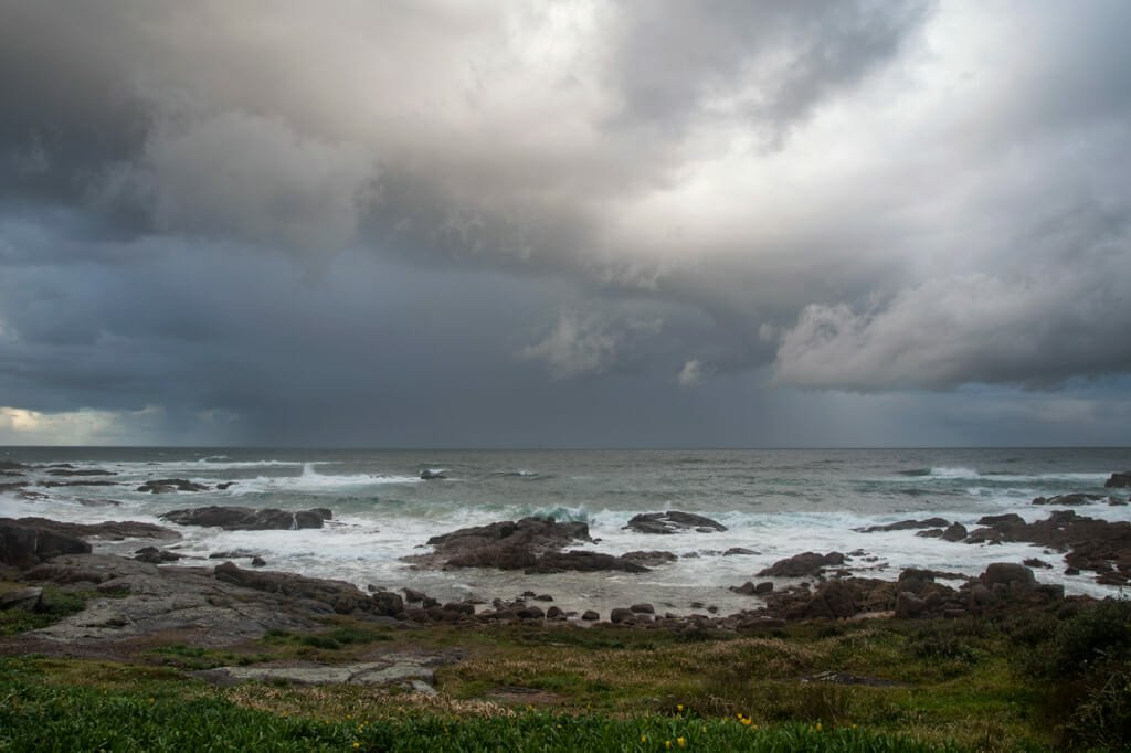 Storm brewing in Anna Bay, Australia