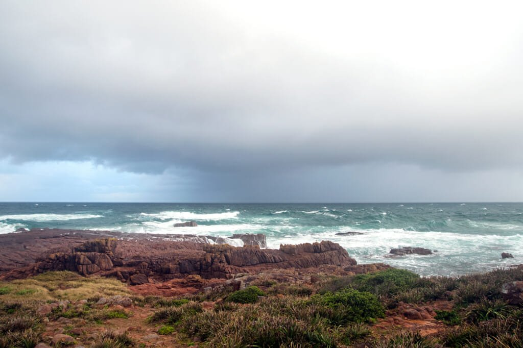 Storm in Anna Bay on the Central Coast of NSW, Australia