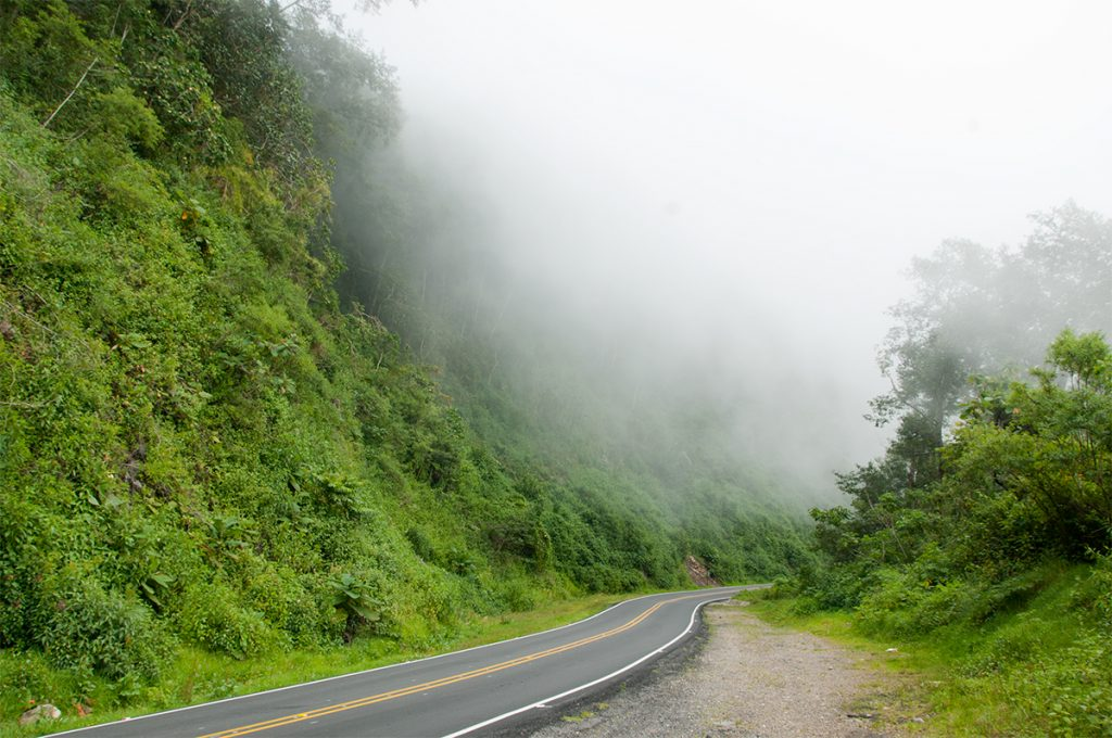 Driving across Costa Rica's Continental Divide