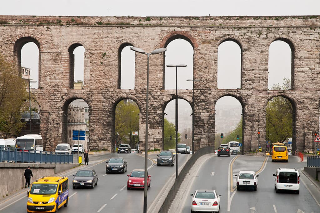 Valens Aqueduct in Constantinople