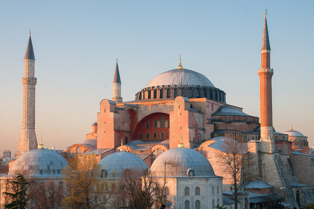Finding Constantinople today - Hagia Sophia at dusk