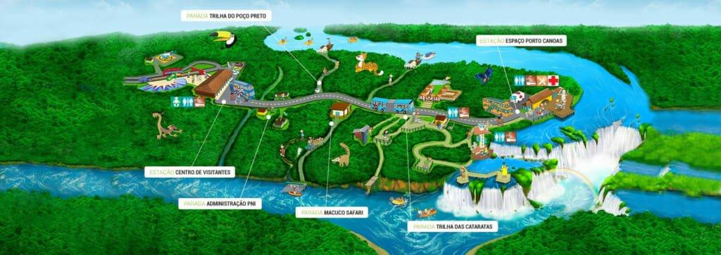 Iguazu Falls Brazil map