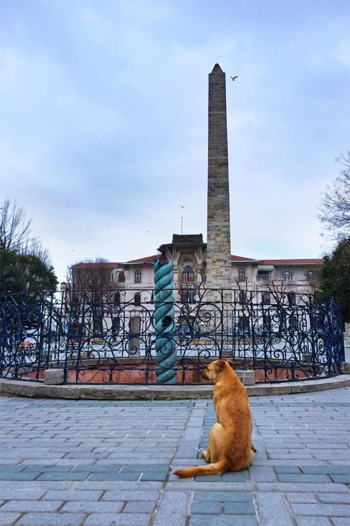 Constantinople today - Serpent and Walled Obelisks at Hippodrome